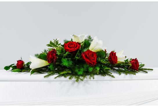 12. Arkunkansilaite punainen ruusu ja valkolilja