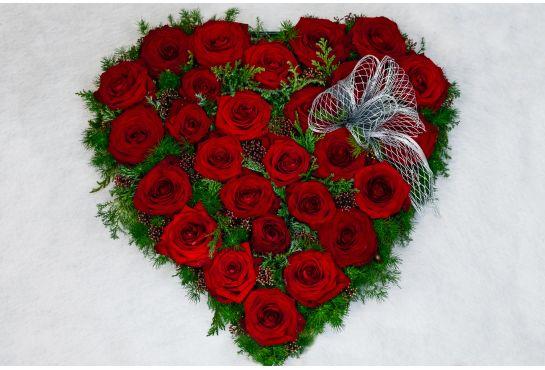32. Sydän punainen ruusu