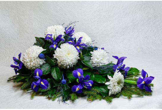 06. Kukkalaite valkoinen krysanteemi ja iiris